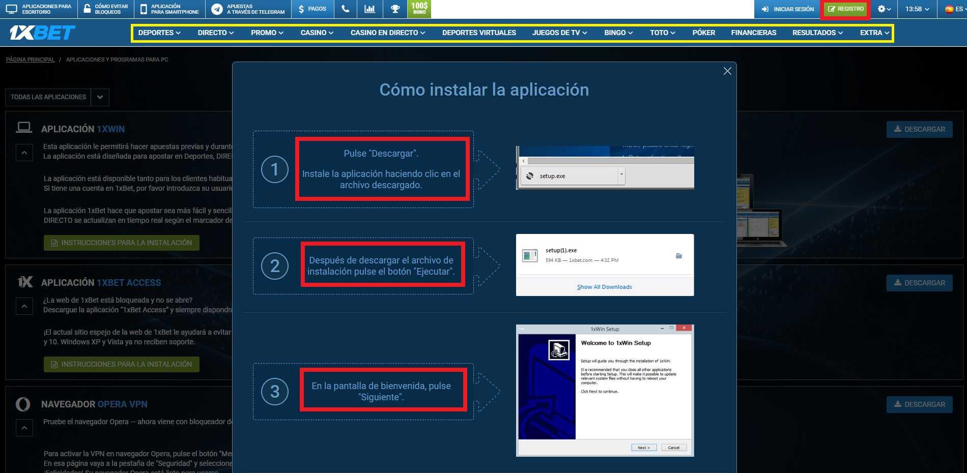 1xBet - los usuarios Windows no quedan exentos del éxito
